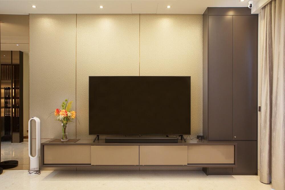 ArtDecor Design Studio Landed House Interior Design Singapore TV Console, Design Authority
