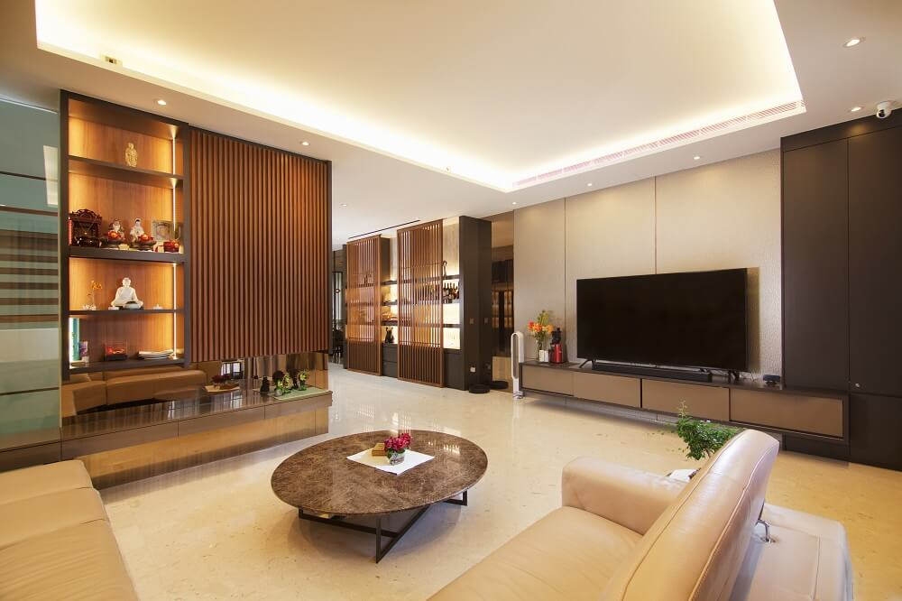 ArtDecor Design Studio Landed House Interior Design Singapore Living Room, Design Authority