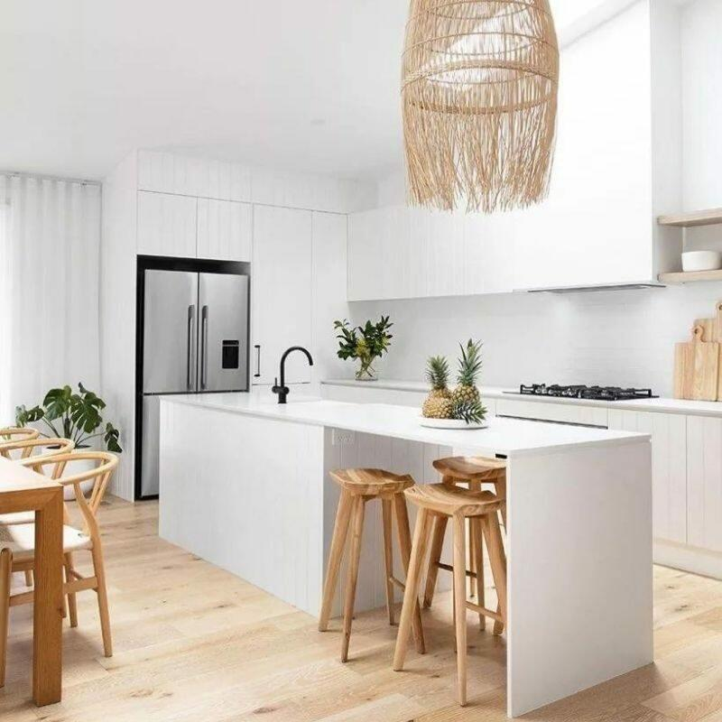 Minimalist kitchen and dining space