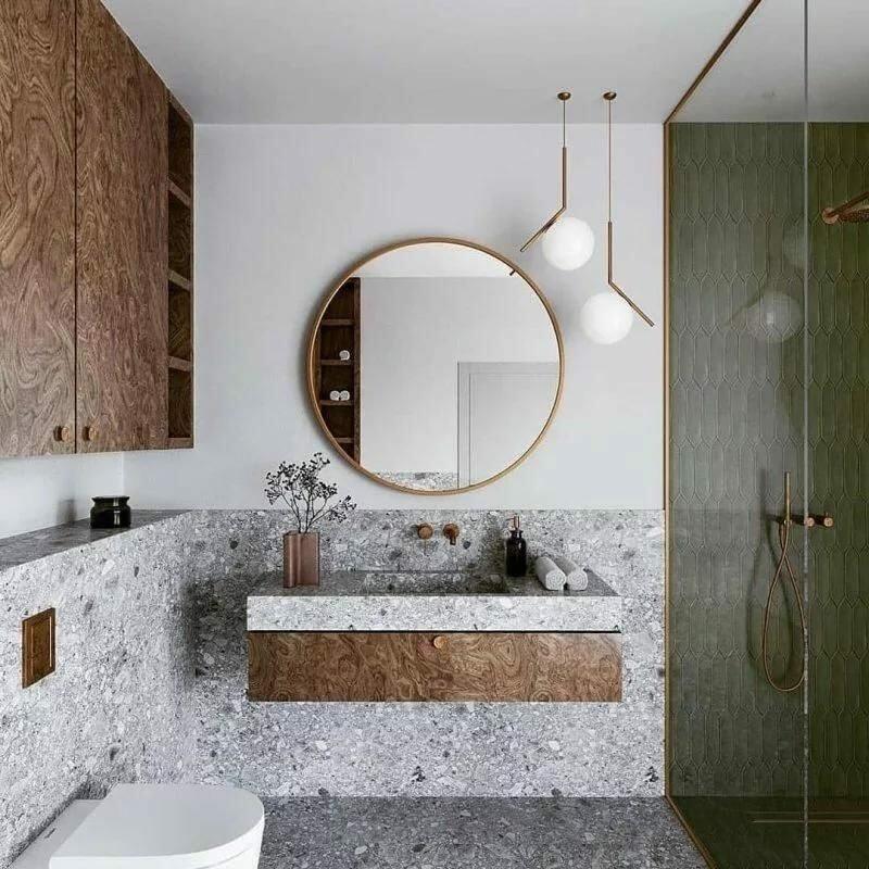 patterned floor bathroom
